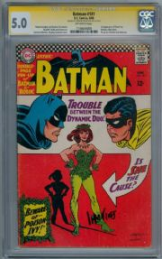 Batman #181 CGC 5.0 Signature Series Signed Carmine Infantino 1st Poison Ivy DC comic book